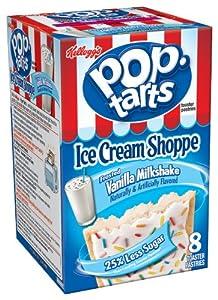 Pop-Tarts Toaster Pastries, Ice Cream Shoppe Frosted Vanilla Milkshake ...
