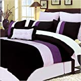 8 Piece Florence Purple Bed-In-Bag Set Size