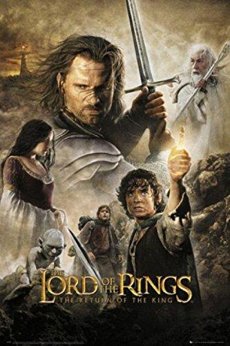 """1art1 59830 - Poster del Signore degli anelli, """"Il ritorno del re"""", 91 x 61 cm"""