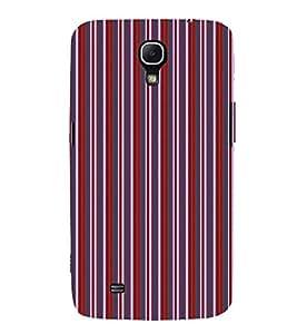 EPICCASE velvet stripes Mobile Back Case Cover For Samsung Galaxy Mega 6.3 I 9200 (Designer Case)