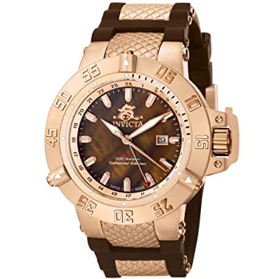 Invicta Men's 0739 Subaqua Noma II Collection Brown Dial Brown Polyurethane Watch