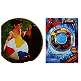 "2 Item Bundle: Inflatable Ultimate Spiderman 20"" Swim Ring And 1 Inflatable Ball For Kids, Poolside"