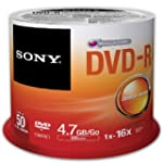 Sony DVD-R 4.7Gb Spindle Pack of 50 5...