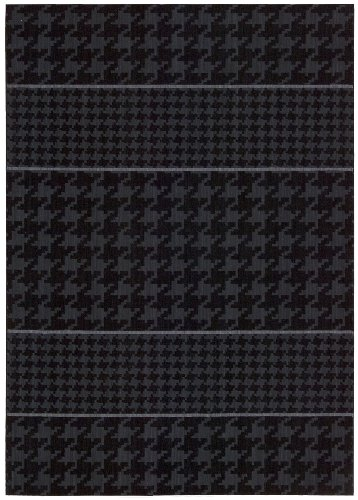Joseph Abboud GRI03 Griffith Rectangle Machine Made Rug, 2.3 by 7.5-Feet, Charcoal