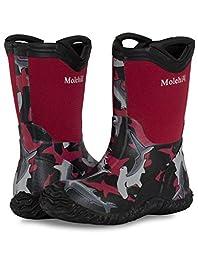 Molehill Rain Boot, Reef Red, 4 M US Big Kid