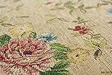 おしゃれ な 花柄 薄型 ラグ アルダ マスターゴールド(ベージュ) 約 240×330 cm 約 6畳 ゴブラン織り カーペット 折りたたみ 可能 ホットカーペットカバー 対応
