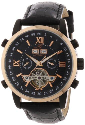 Ingraham - IG CALC.1.200467 - Montre Homme - Automatique - Analogique - Bracelet Cuir Noir