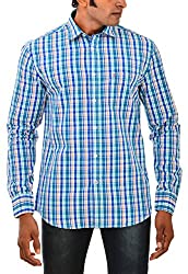 Indipulse Men's Casual Shirt (IF11600616AFS, Multi-Coloured, XL)