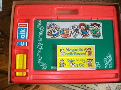 Vintage 1984 Playskool Tote N' Go Magnetic Chalkboard Playset front-880847