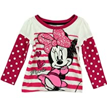 "Disney Minnie Mouse ""Minnie"" White Toddler Long Sleeve T-Shirt (4T)"