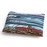 (ヘザーブラウン)HEATHER BROWN BEACH CLUTCHES SURF GIRL・ビーチクラッチ・サーフガール デザインプリントポーチ・クラッチバッグ(サーフガール) HB0110MB/SURF GIRL [並行輸入品]