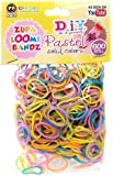 D.I.Y. Do it Yourself Bracelet Zupa Loomi Bandz 600 PASTEL MULTI-COLOR Rubber Bands with 'S' Clips