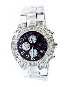 Aqua Master Men's 20 Diamond Watch Black Face