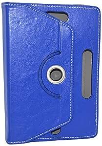 Connexions Accessories Deisgner Book Cover For Micromax Funbook Mini P410i-Blue