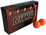 Nitro Ultimate Distance Golf Ball (15-Pack), Orange