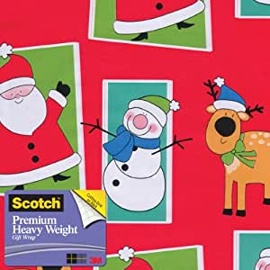 Scotch  Gift Wrap, Character Frames Pattern, 25-Square Feet, 30-Inch x 10-Feet (AM-WPCF-12)