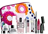 Clinique 8 Piece Gift Set, inc Repairwear Uplifting Firming Cream, Rinse Off Foaming Cleanser, Repairwear Laser Focus Wrinkle Correcting Eye Cream, All About Shadow Trio, High Impact Mascara, Chubby Stick, Quickliner For Eyes, Makeup Bag