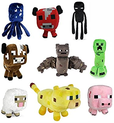 "Minecraft 7"" Assorted Plush: Set of 9 by Jazwares, Inc."