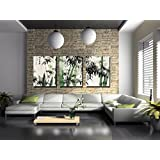 Spirit Up Art Large Chinese Painting of Bamboo on Canvas Print without Framed, Modern Home Decorations Wall Art set of 3 Each is 40*60cm #D09-317