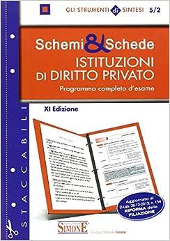 Schemi & schede di istituzioni di diritto privato. Programma completo