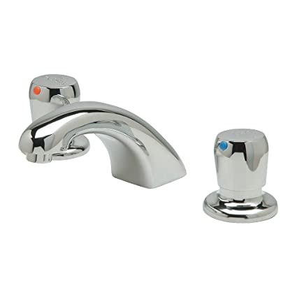 Zurn - Z867R0-XL-3M - Brass Bathroom Faucet, Push Handle Type, No. of Handles: 2
