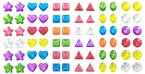 glitter-sparkle-stick-on-earrings-144-pairs-multiple-colors-shapes-girls-teens