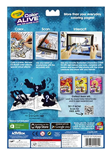 crayola color alive action coloring pages combo set skylanders and mythical creatures