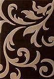 """Acquista Lalee - Tappeto """"Lambada 451"""", colore: Caffè/Beige a fiori 80 cm x 150 cm marrone"""
