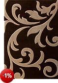 """Lalee - Tappeto """"Lambada 451"""", colore: Caffè/Beige a fiori 80 cm x 150 cm marrone"""