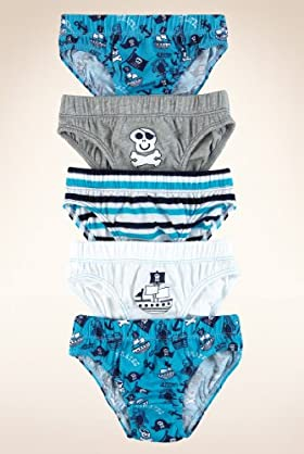 5 Pack - Younger Boys' Pure Cotton Pirates Slips