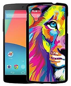 FCS Printed 2D Designer Hard Back Case For LG Google Nexus 5 Design-10087