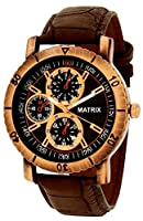 Matrix Analog Chrono Look Black Dial Men's Watch-WCH-123