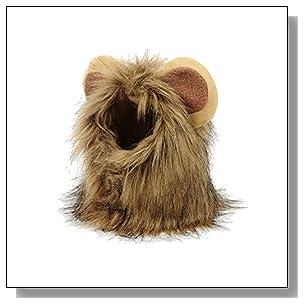 BETOP Pet Costume Dog Cat Super Cute Lion Mane Wig Halloween Christmas Cosplay, Small