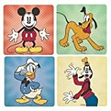 Set of 4 Disney Coasters, Mickey, Donald, Pluto & Goofy