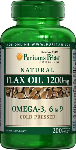 Puritan'S Pride Natural Flax Oil 1200 Mg-200 Softgels