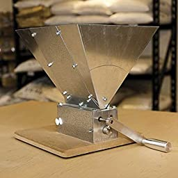 Monster Mill MM3 Three Roller Grain Mill for All Grain Beer Brewing - Package with Grain Hopper and Base