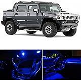 Hummer H2 2003-2009 Blue Premium LED Interior Lights Package Kit (11 Pieces)