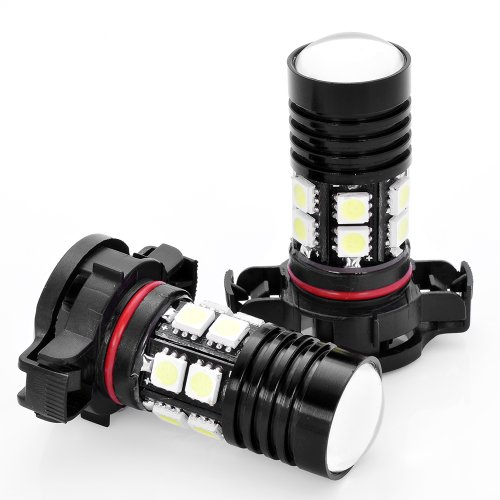 2x 6000K High Power Bright 5202 5201 2504 H16 9009 PSX24W CREE 5050 12-SMD LED Xenon White DRL Daytime Running Fog Light Lamp Bulb For Cadillac Jeep GMC (Fog Light Xj compare prices)