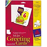 "Avery Quarter Fold Card - 4.25"" x 5.5"" - Matte - 20 / Pack - White"
