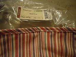 Longaberger Card File FABRIC LINER - Market Stripe Fabric - 2895130