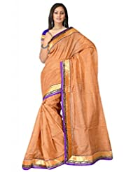 Sehgall Saree Indian Bollywood Designer Ethnic Professional Designer Fancy Jute Material Saree Beige