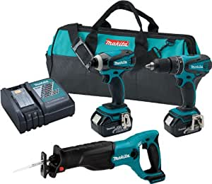 Makita XT322 18-Volt LXT Lithium-Ion Cordless Combo Kit, 3-Piece