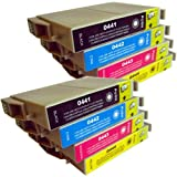 8 CiberDirect Compatible Ink Cartridges for use with Epson Stylus CX3650 Printers.