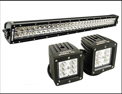 "All Terrain Concepts - Combo Kit-21.5"" Led Light Bar And 4"" Spotlight Pair (2) All Terrain Concepts Jeep Rock Light Rock Crawler"