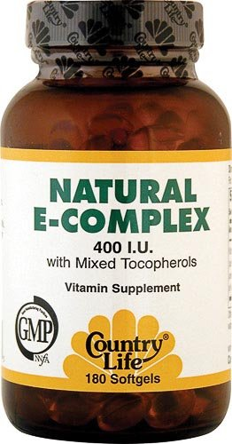 Country Life Vitamin E Complex, 180 Softgels