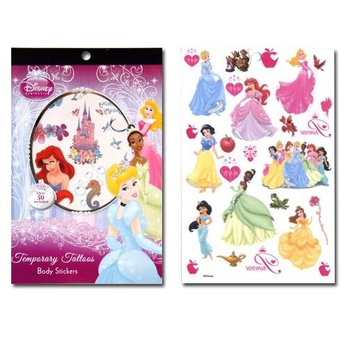 WeGlow International Princess 4 Sheet Tattoo Book (Set of 3) - 1
