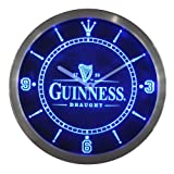 Guinness Vintage Logo Beer Bar Neon Sign LED Wall Clock (Blue)