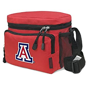 University of Arizona Lunch Box Cooler Bag Insulated Red Arizona Wildcats Lunchbox or NCAA Travel Bag