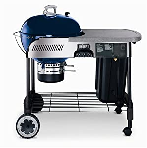 Weber 22-1/2-Inch Performer Charcoal Grill Blue (Discontinued by Manufacturer)