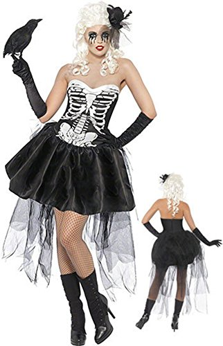 GoLoveY Christmas Skeleton Costume Zombie Tube Dress Night Vampire Clothes